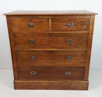 arts & crafts oak chest