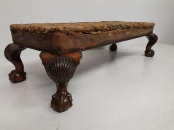 Footstool 18th Century Walnut