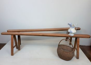 Fruitwood Pig Benches