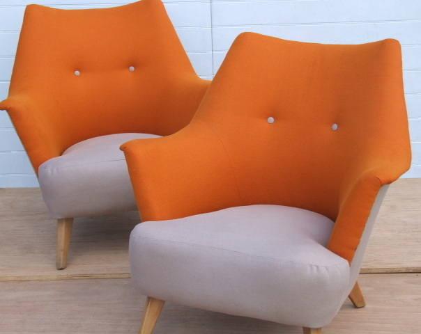 pair retro chairs