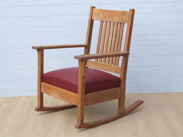 American Oak Arts & Crafts Rocking Chair