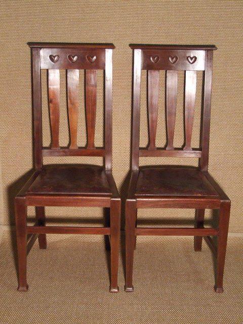 Mahogany Arts & Crafts Chairs