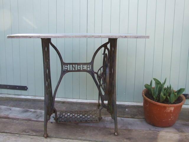 Singer slate & Iron table