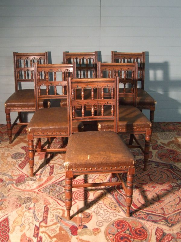 victorian chairs set
