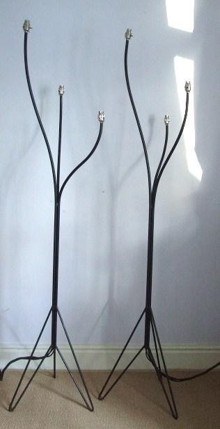1950s pair floor lamps