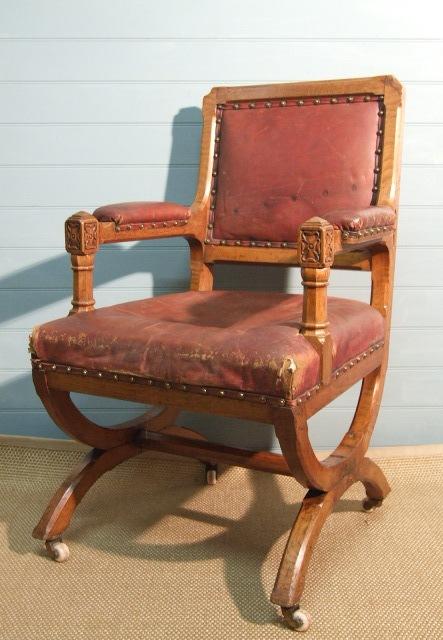 victorian gothic armchair