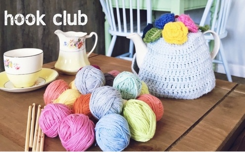 hook club at Elm Tree tearoom