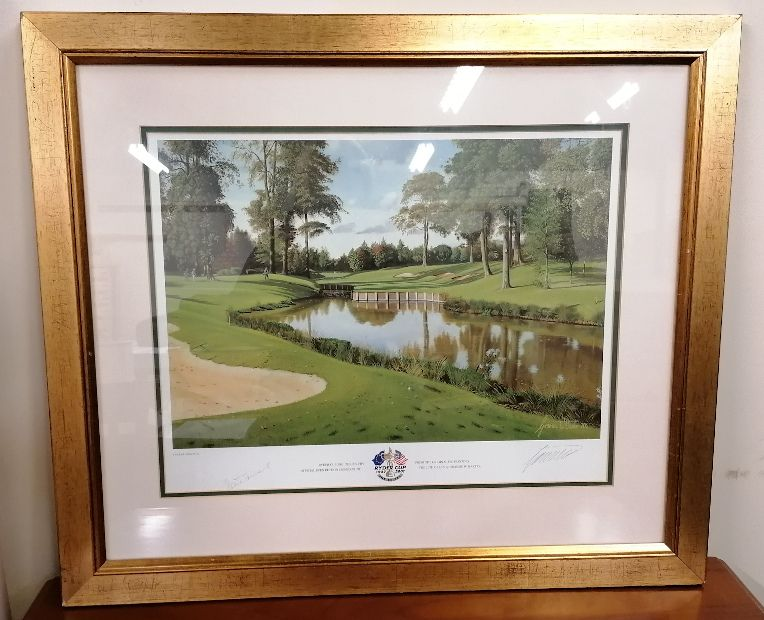 Official Ryder Cup 2001 Signed Print. The Belfry.