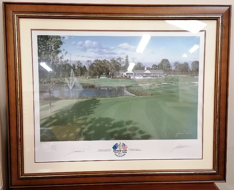 Ryder Cup 2006 Official Signed Print. The K CLub.