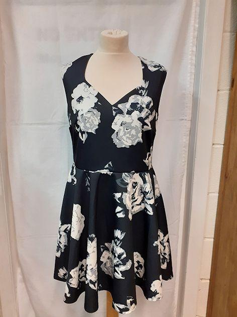 Simply Be Black Floral Dress