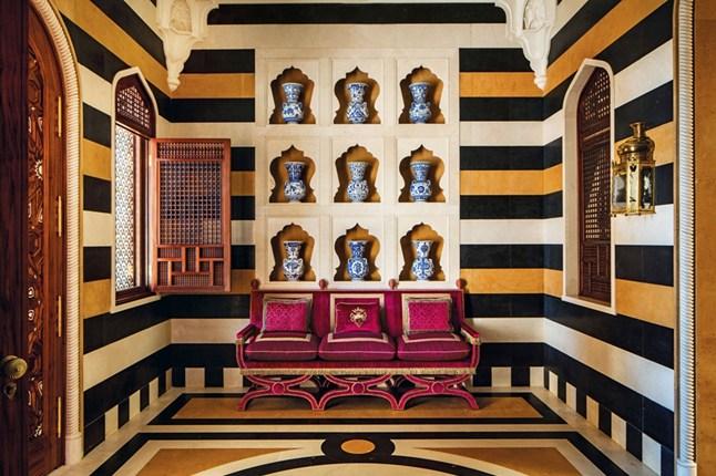 Autumn 2015 Room: Orange/Black stripe walls Alidad-Book-Image-house-15sep15