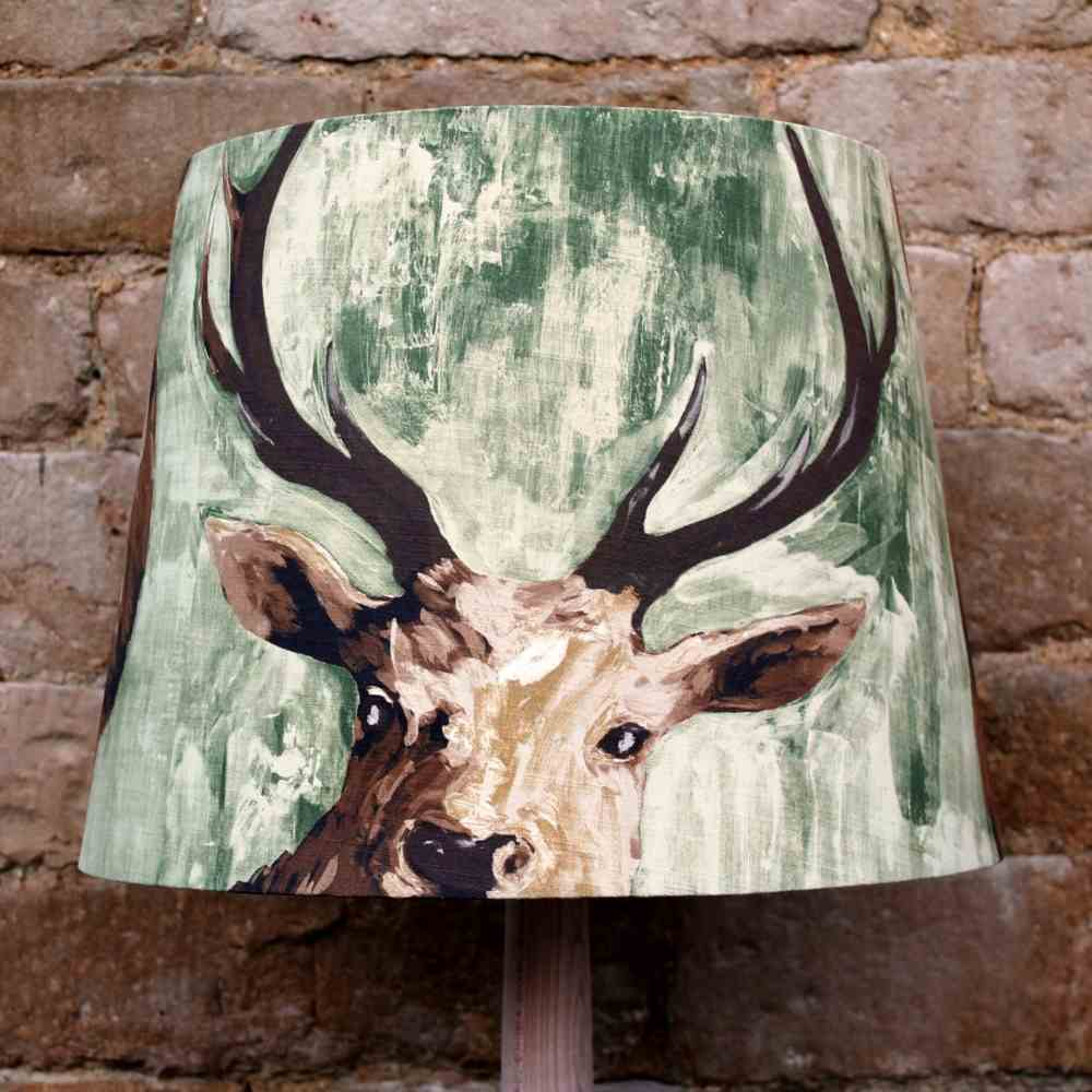 Christmas 15: 19 Superior_Stag_Green_Fabric_Drum_Lightshade_Designer_Ligh