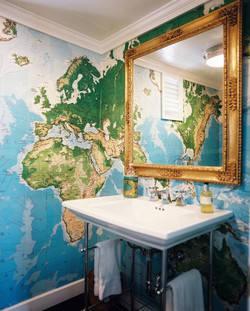 Summer 15 Room: World Globe wallpaper cloak room AQNehtQymH-l