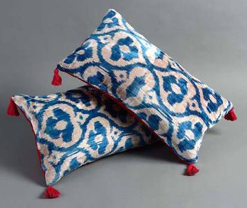Summer 15: Blue moorish cushion cu_5729