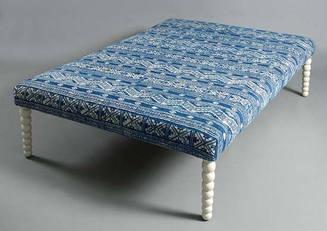 Summer 15: Blue moorish stool ot-019
