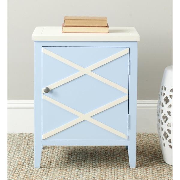 Spring 16: 20 Safavieh-Bernardo-Light-Blue-White-Side-Cabinet-6ecf1aa