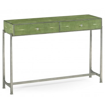 Spring 16: 34A green_faux_shagreen_console_4