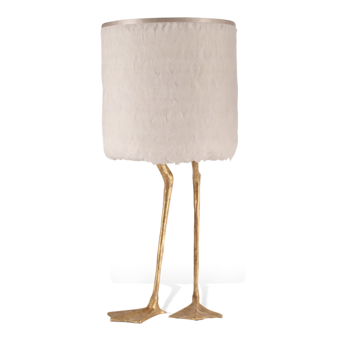 S 16: Duck Feet Lamp VLB20-DCG-WHITE-FEATHER-SHADE