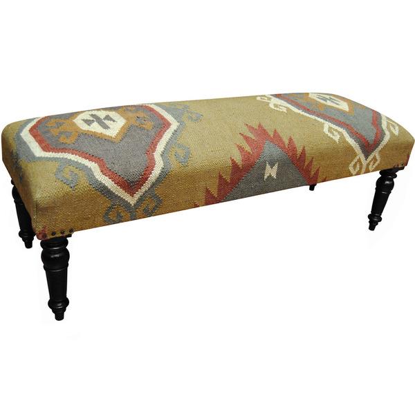 Summer 16: 84 Herat-Oriental-Indo-Handmade-Wool-Jute-upholstered-Wooden-B