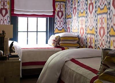 Summer 16: 118 hc-steven-gambrel-walls-upholstered-in-ikat-from-uzbekista