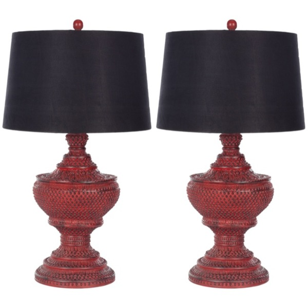 Autumn 16: 4 Indoor-1-light-Heritage-Red-Table-Lamps-Set-of-2-18687cac
