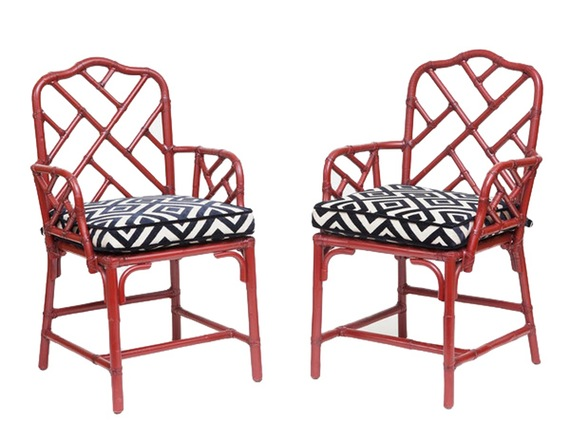 Autumn 16: 2 city-of-z-design-pair-of-red-50s-bamboo-chinoiserie-chair