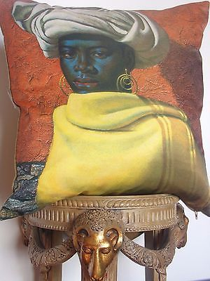 Christmas 16: 36B Tretchikoff-SWAZI-GIRL-Cushion-50-cm-x-50