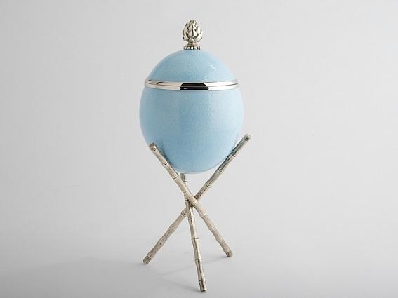 Easter 17: 38 3-Ann-Coston-Artichoke-Blue-Ostrich-Egg