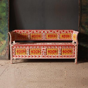 Christmas 17: 1 folk_art_painted_box_bench_main