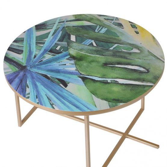 Christmas 17: 30 large-set-of-3-vibrant-leaf-print-side-tables-2