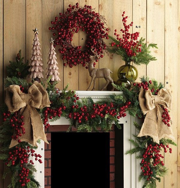 Christmas 17: 92 top-14-rustic-christmas-fireplace-mantel-decors-easy-pa