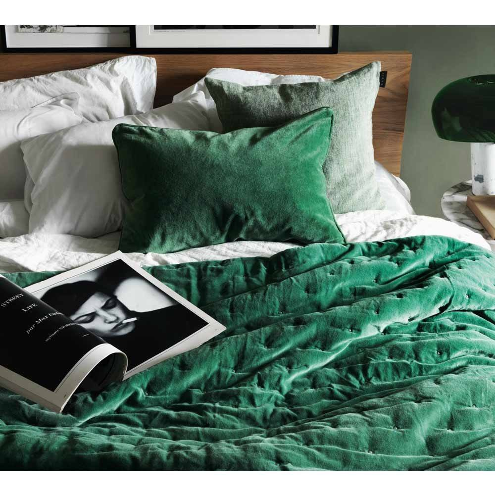 Christmas 17: 15A paolo-velvet-bedspread-in-emerald_1_1