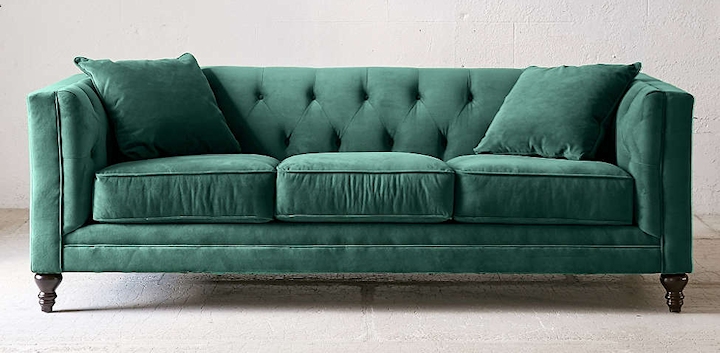 Spring 18: 14 sofa-options-for-living-room-Graham-Velvet-Sofa-in-Pine-fr