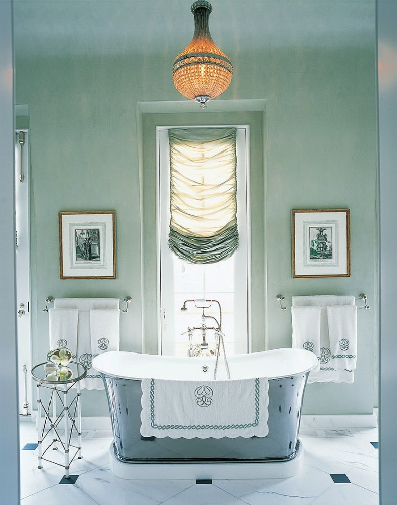 Spring 18: 81 AA Fabulous-traditional-bathroom-in-pastel-green-and-gr