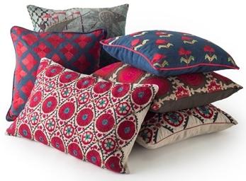 Spring 2018: Suzani Fergana Linen Cushion Beige_1