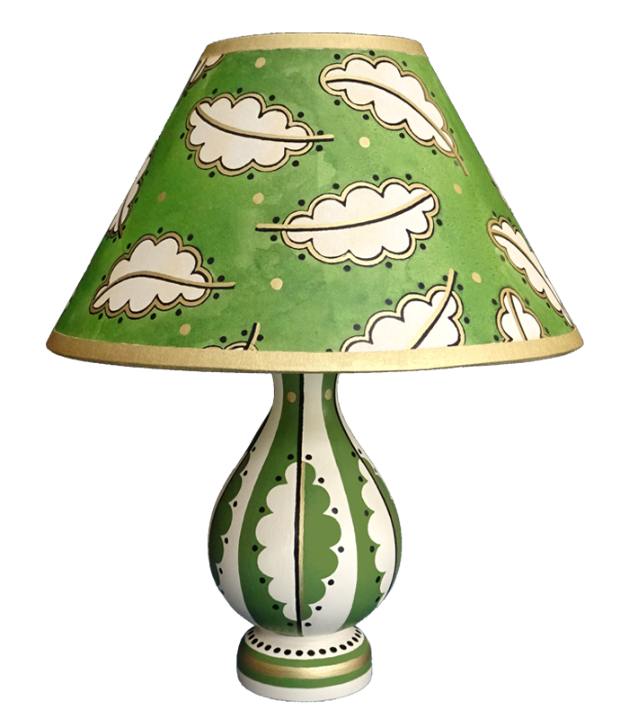 Summer 18: 72 Lampbase and Shade - OakLeaf GreenGold - Webshop