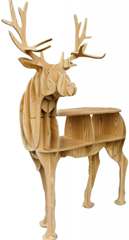 christmas 18: 34 console-etagere-cerf-frene-contreplaque-clair-deer-84-2