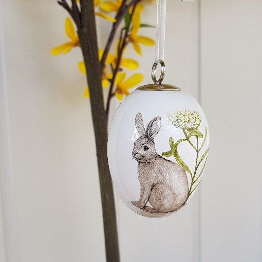 Easter 19: 1 gisela-graham-easter-decoration-ceramic-egg-bunny-1
