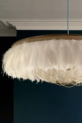Easter 19: 8 rockettstgeorge_fabulous_feather_chandelier_featuring_chains