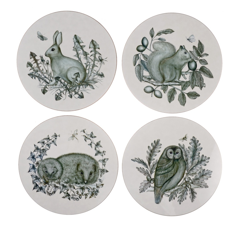 Easter 19: 62 animal_circular_table_mats_sku_312147