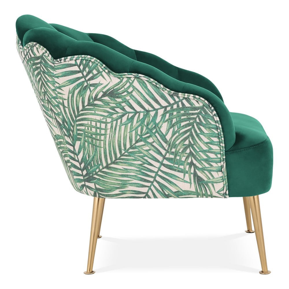 Easter 19: 70 cult-living-evelyn-accent-chair-velvet-upholstered-green-