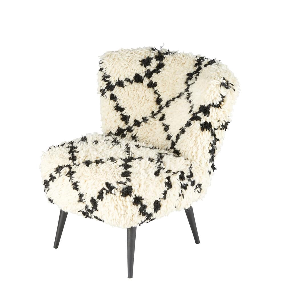Easter 19: 79 chequered-black-and-ecru-cotton-and-wool-armchair-1000