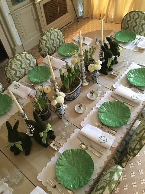 Easter 19: 88 easter-tablescape-lettuceware