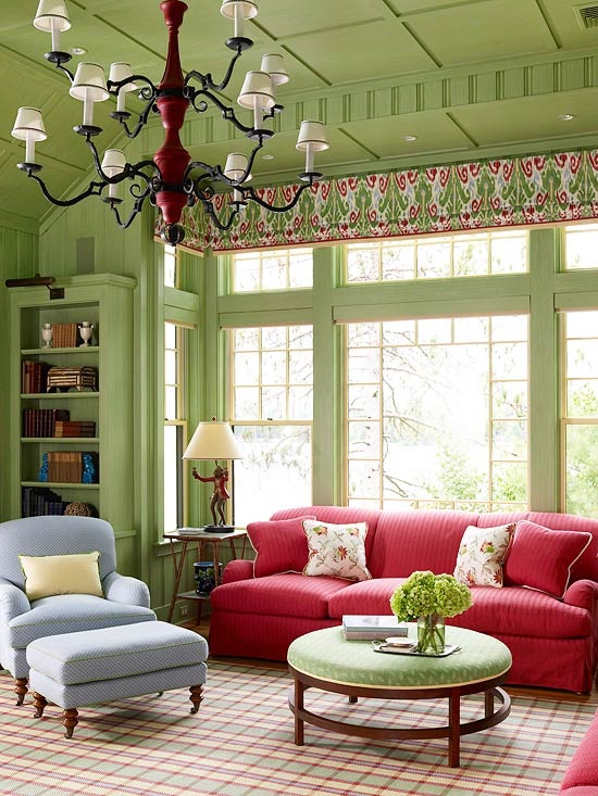 Easter 19: 90 green-color-living-room1