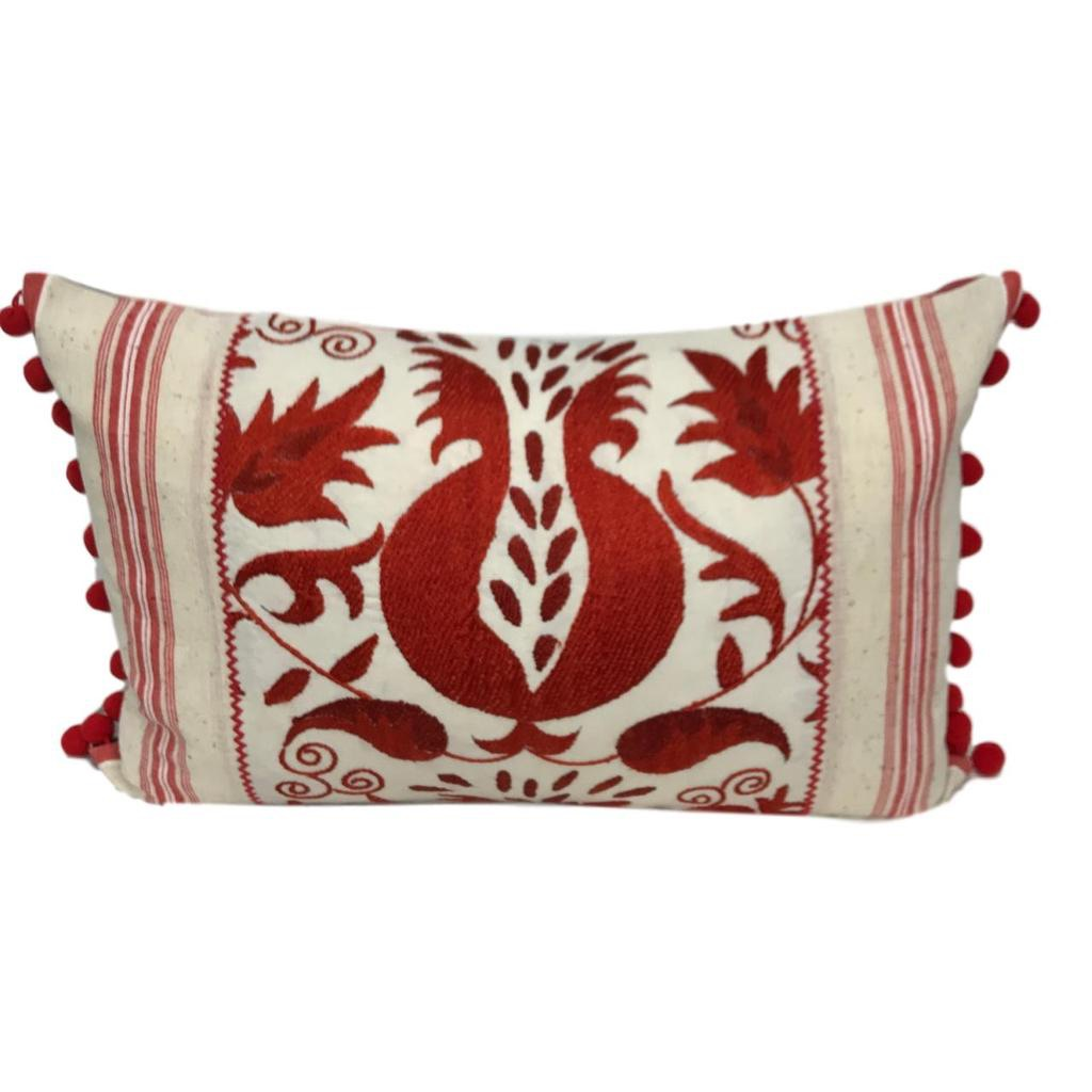 Summer 19: 34 Suzani_ikat_red_with_pompoms_clipped_rev_1_1024x1024