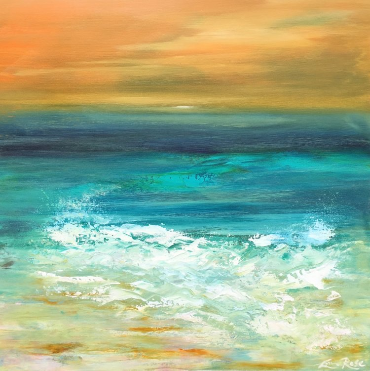 Summer 19: 76A Summer_Spray_by_Emma_Rose_60x60cm_www.emmaroseartworks.c