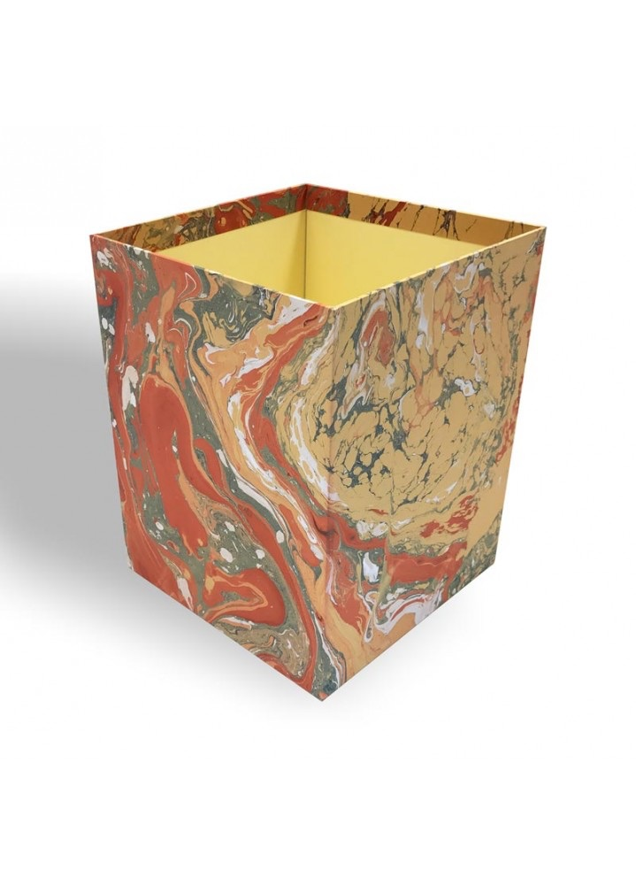 C 19: marbled-paper-waste-paper-basket-carmen-conti-borbone