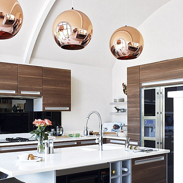 Forecast: Copper-pendant-lights-in-a-modern-kitchen