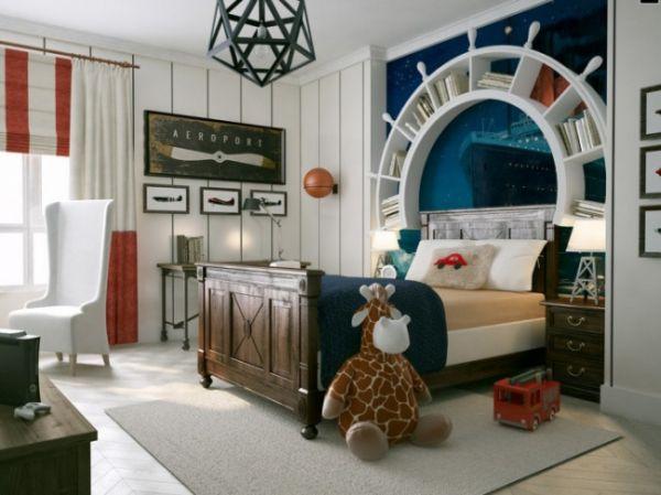 Nautic: travel-themed-kids-room