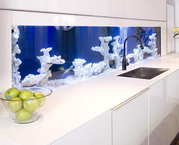 Nautic: backsplash aquarium